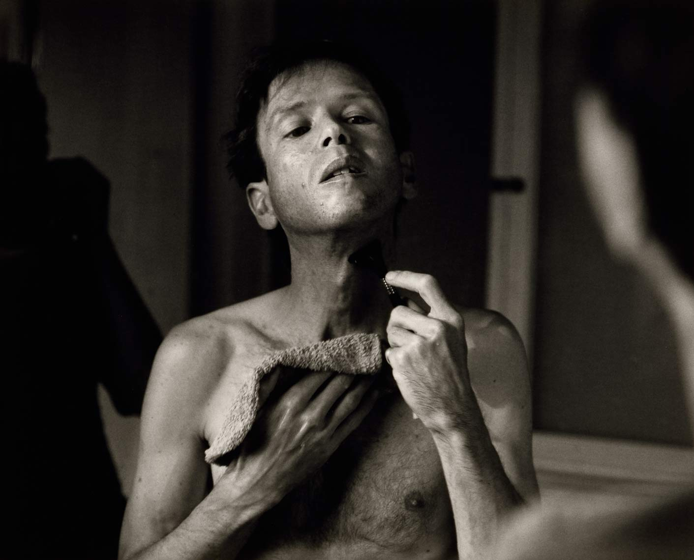 David Lebe; Morning Ritual 12, 1994, black and white photograph about living with AIDS