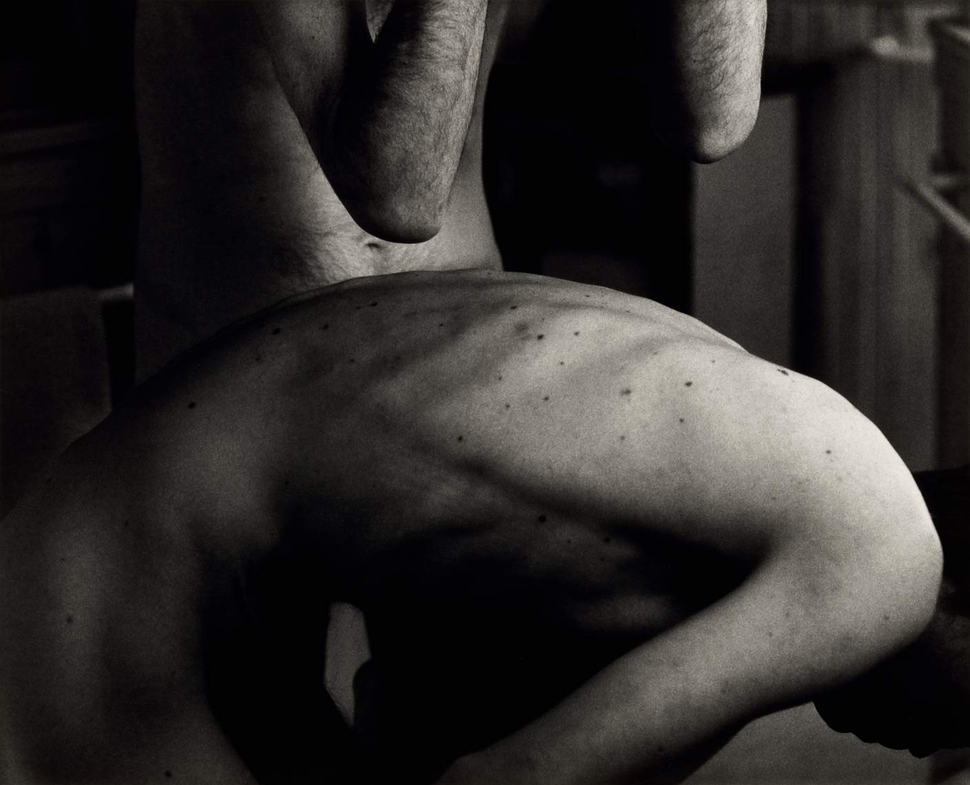 David Lebe; Morning Ritual 19, 1994, black and white photograph about living with AIDS