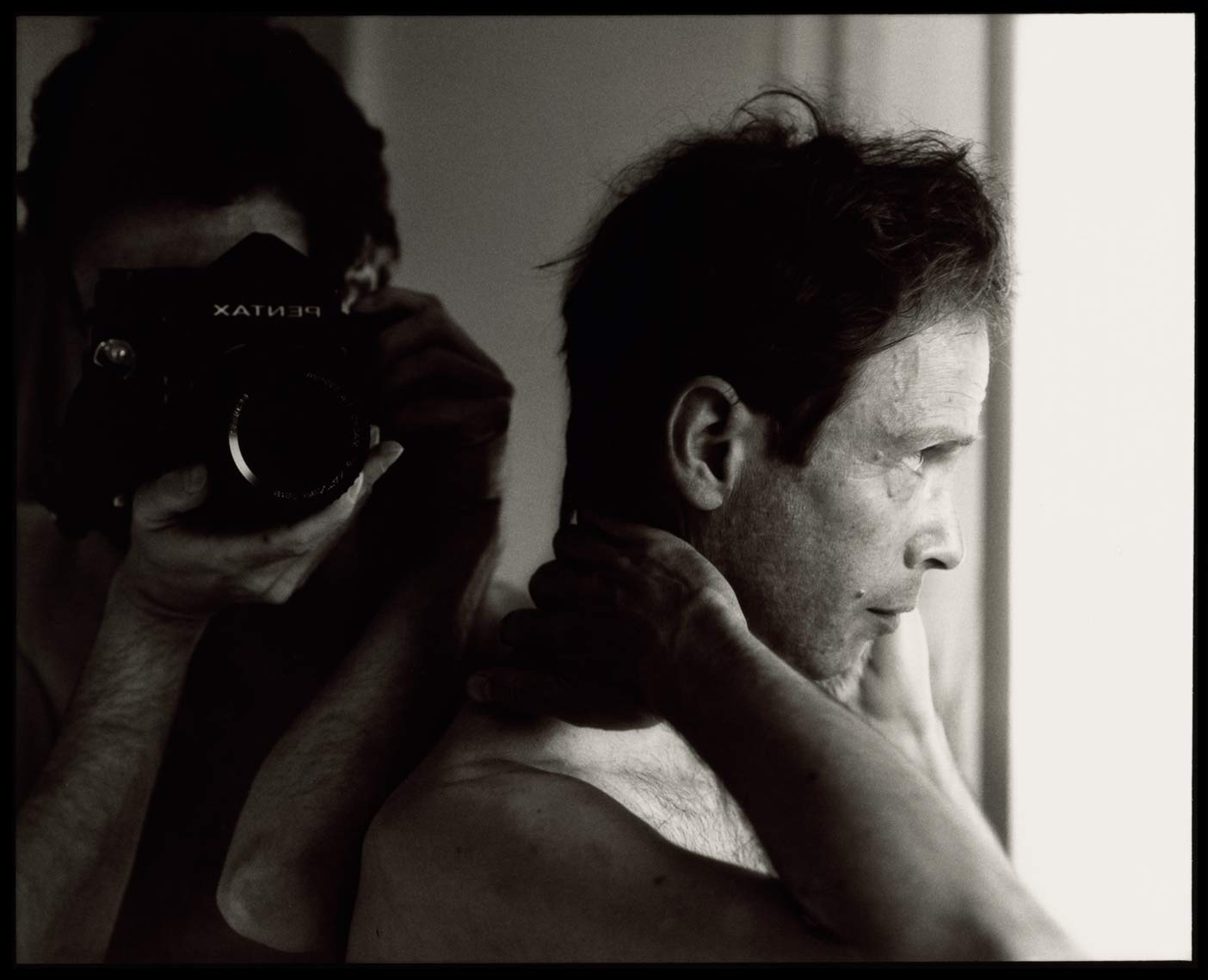 David Lebe; Morning Ritual 26, 1994, black and white photograph about living with AIDS