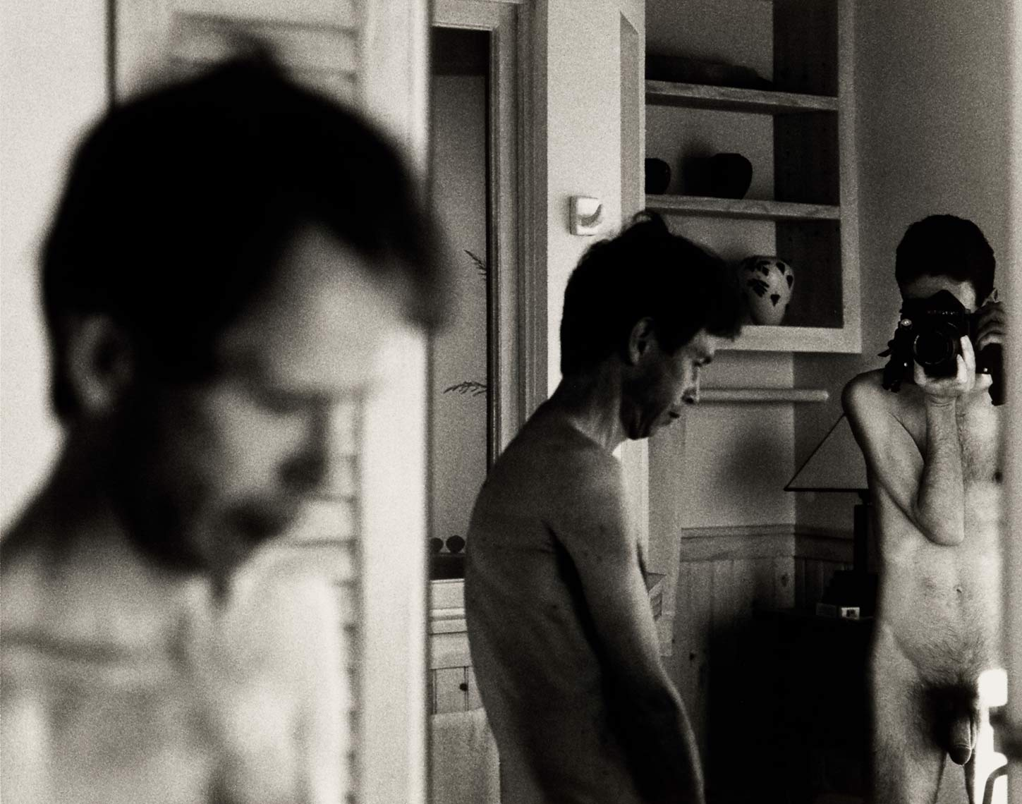 David Lebe; Morning Ritual 27, 1994, black and white photograph about living with AIDS