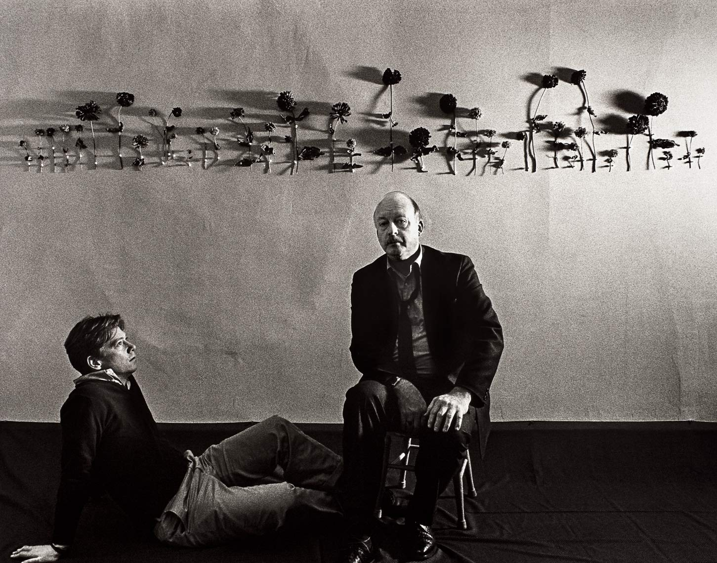 David Lebe; The Poets Jonathan Williams & Tom-Meyer, 1985, black and white photograph