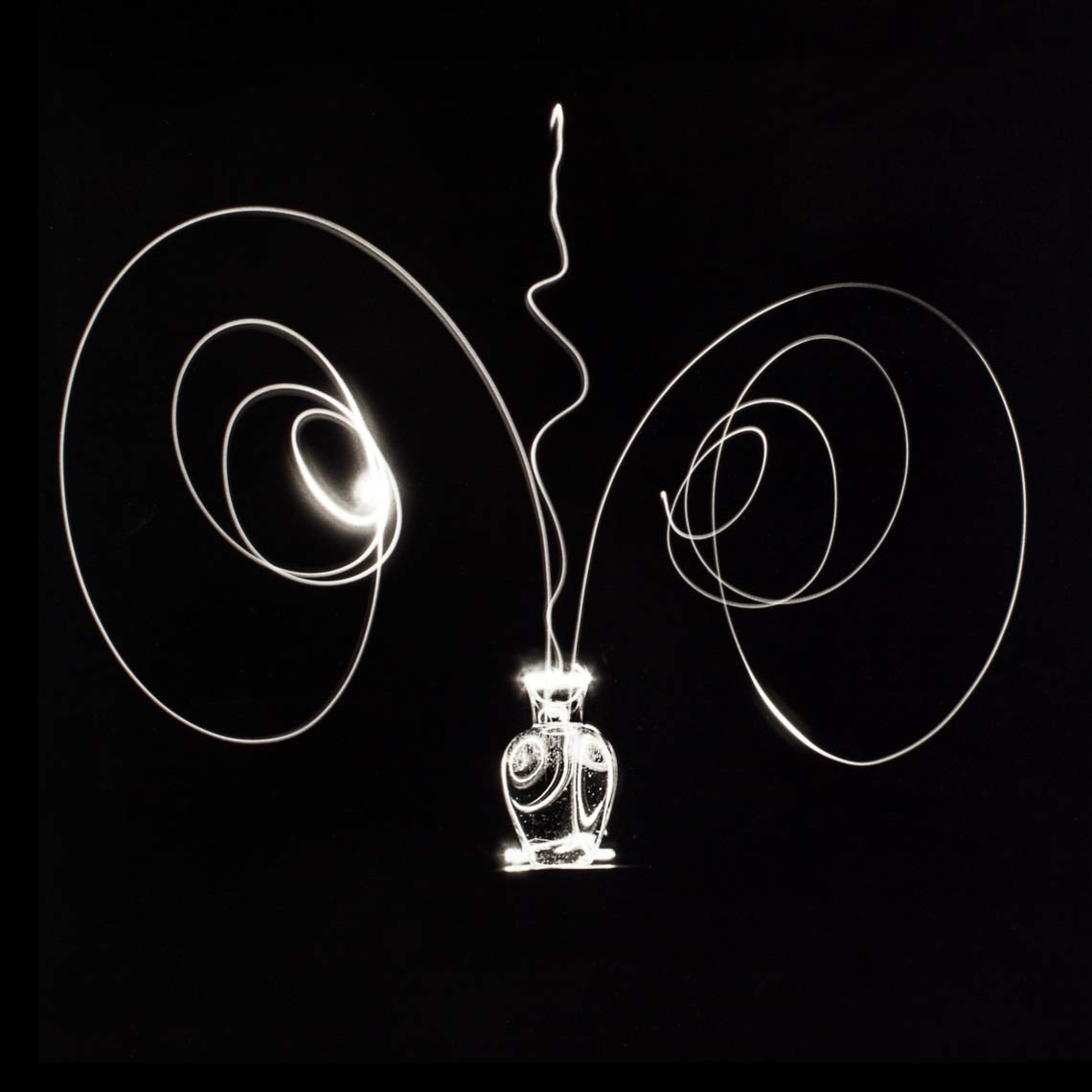 David Lebe; Scribble 1, 1987, light drawing, black and white photograph