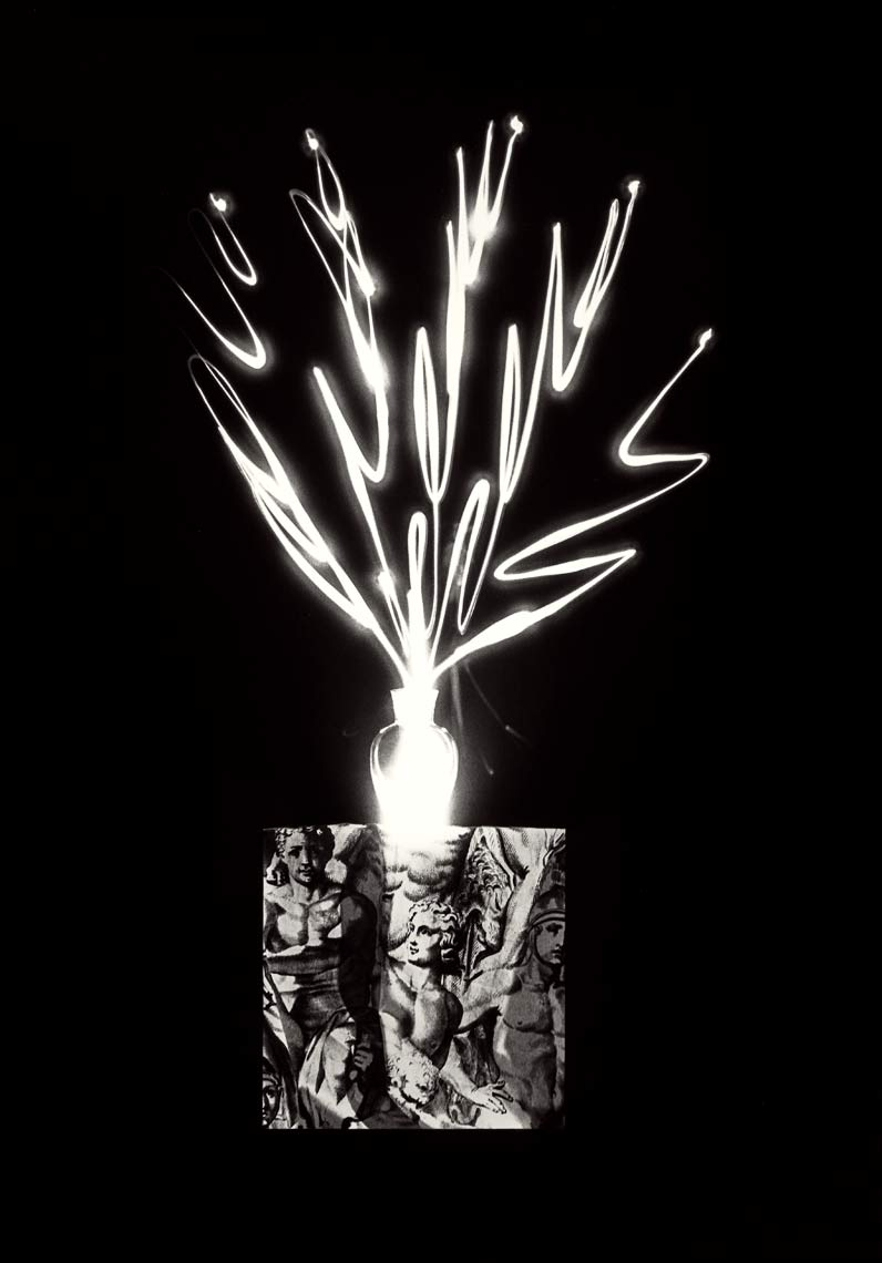 David Lebe; Scribble 24, 1987, light drawing, black and white photograph