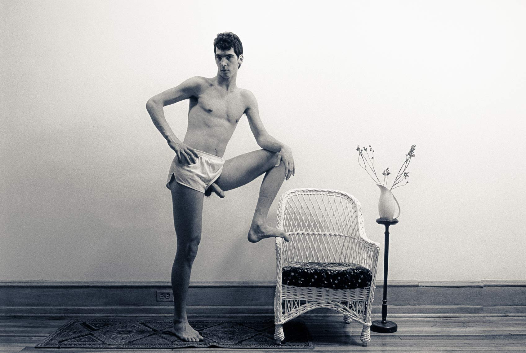 David Lebe; Shorts, 1983, male nude, black and white photograph