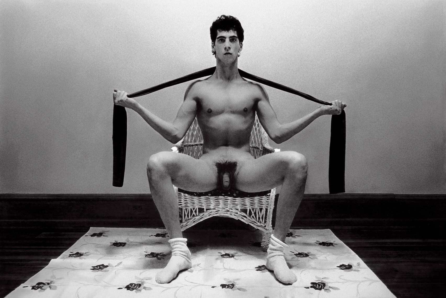 David Lebe; Socks, 1983, male nude, black and white photograph