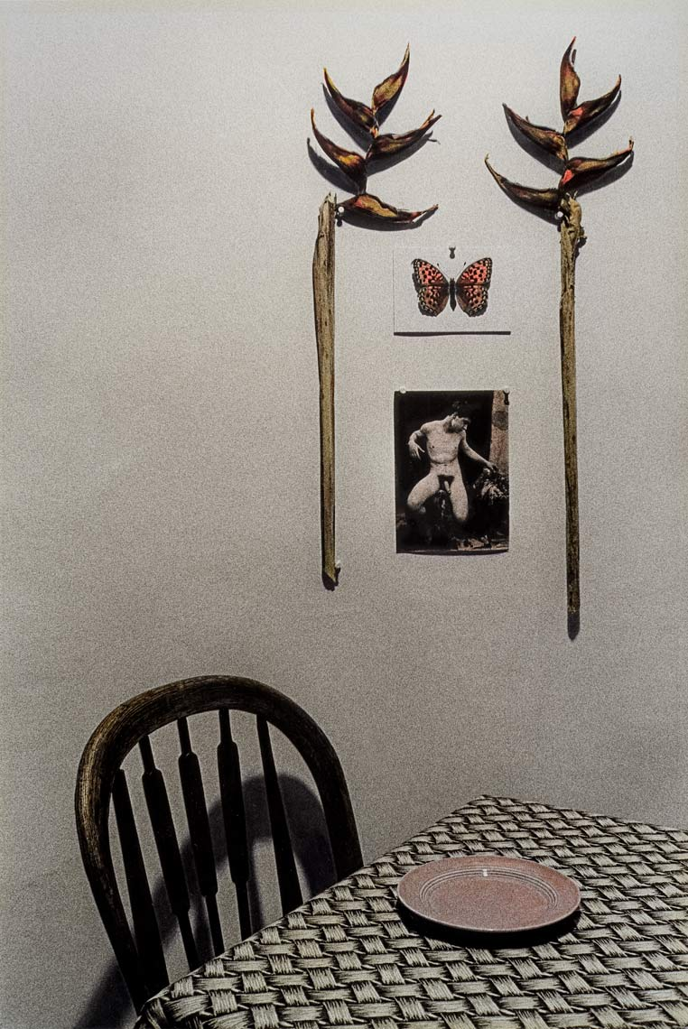 David Lebe; The Empty Plate, 1982, still life, hand colored photograph