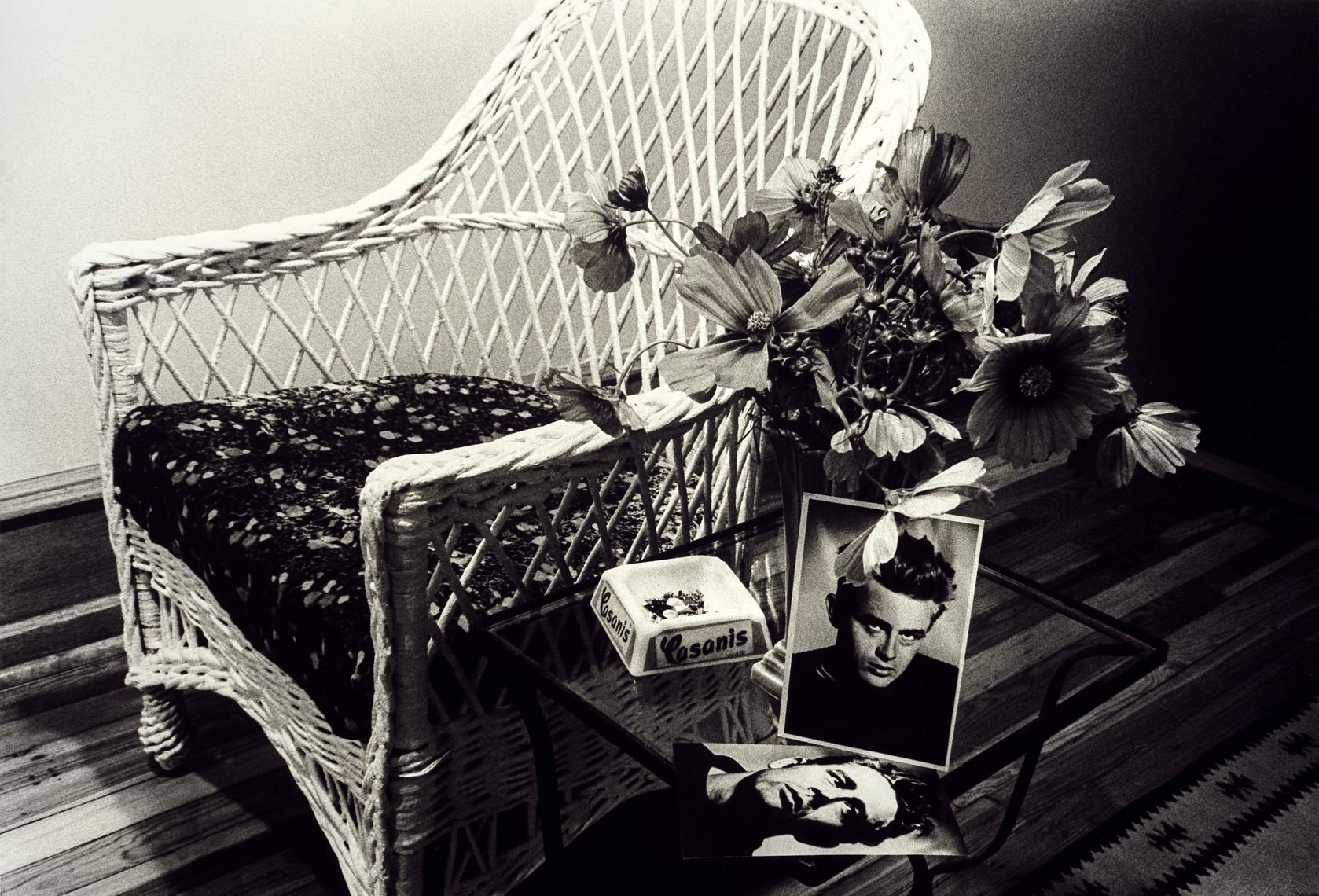 David Lebe; Wicker Chair, 1882, black and white photograph